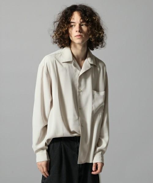 HAREのグレーの開襟シャツ