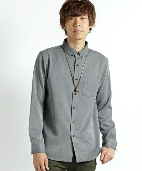 MONO-MARTのグレーシャツ