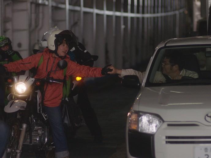 濱田岳バイク