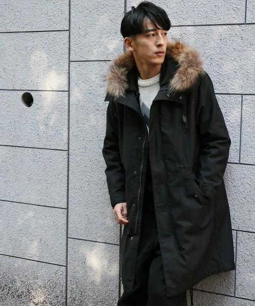 RAGEBLUEの黒モッズコート