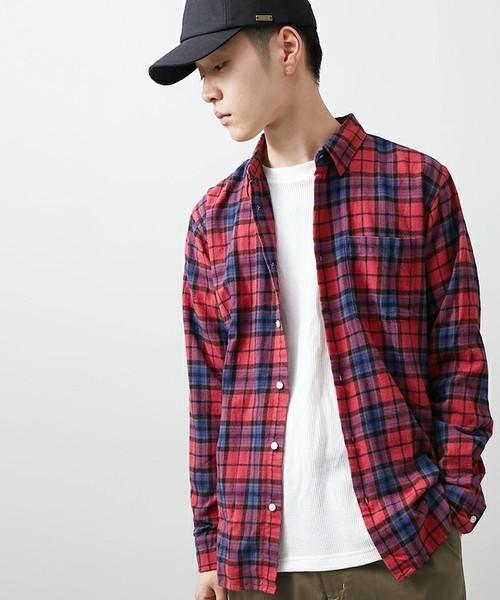 WEGOの赤チェックシャツ