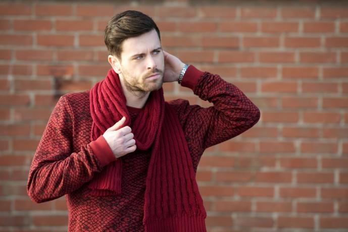 セーターのメンズ色別コーディネート