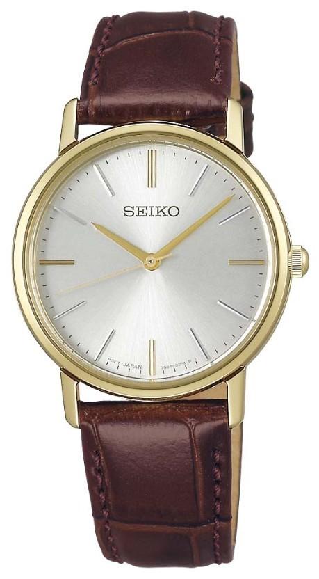 茶色の革の腕時計