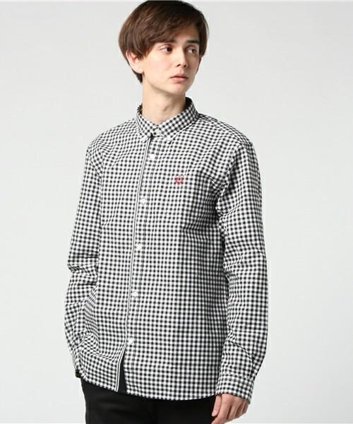 FREDPERRYの黒チェックシャツ