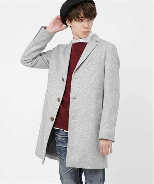 カシミア混の暖かいコート