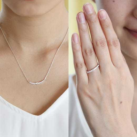 妻への誕生日プレゼントは4℃の指輪のエターナルシルバー ジュエリー2点セット