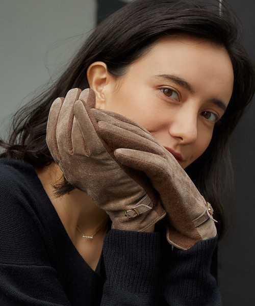 彼女のクリスマスプレゼントにグリーンレーベル_リラクシングのキャメル手袋.jpg