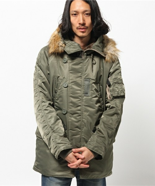 防寒バッチリなミリタリージャケット