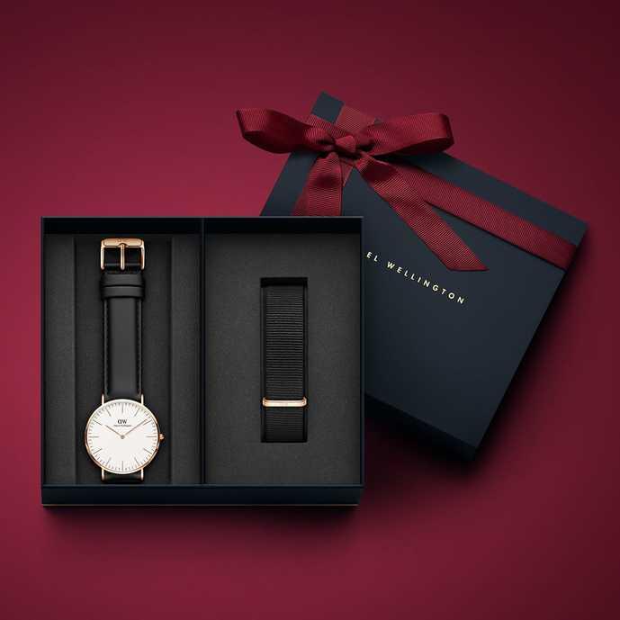 旦那へのクリスマスプレゼントはダニエルウェリントンのクリスマス限定セットの腕時計