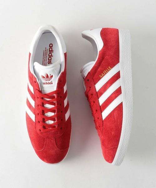 adidas スニーカー赤色