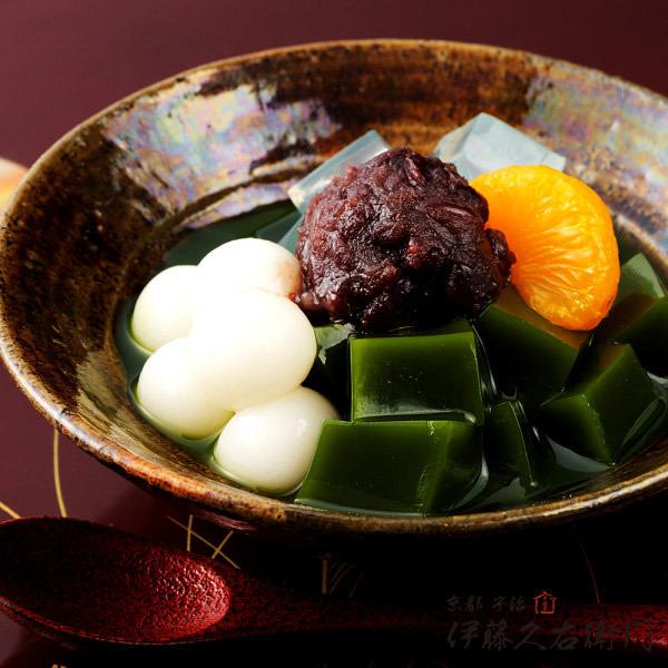 敬老の日の和菓子プレゼントは伊藤久右衛門の抹茶あんみつ