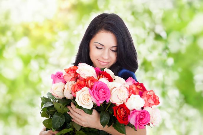 記念日に花束のプレゼント