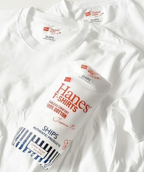 ヘインズの白Tシャツ