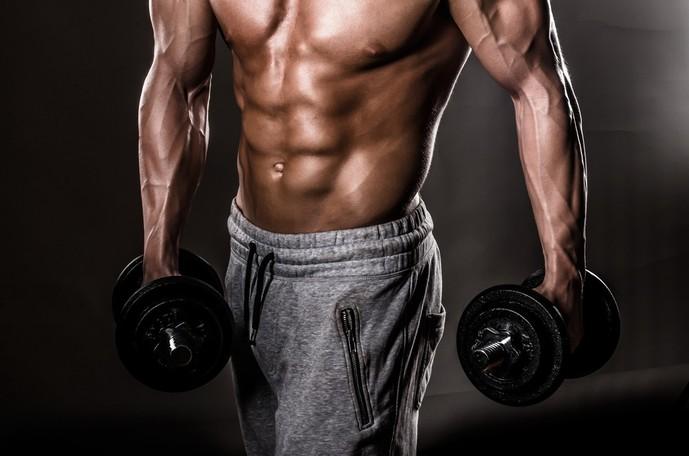 プッシュアップバーを使った腹筋のトレーニング