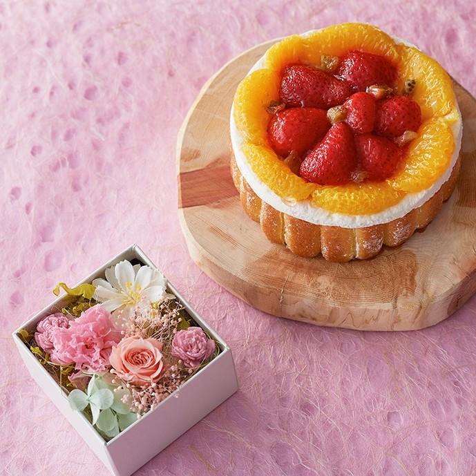 母の日のギフトにルタオの人気ケーキと花のセット