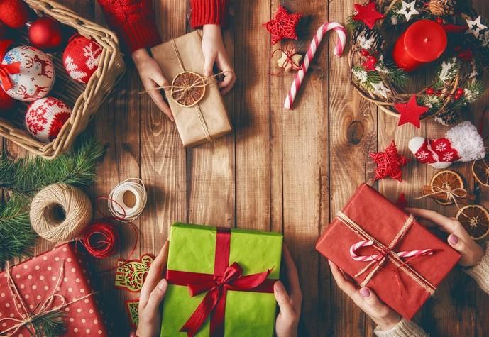 お菓子をクリスマスプレゼントに