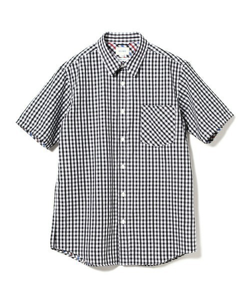 BEAMSのギンガムチェックシャツ