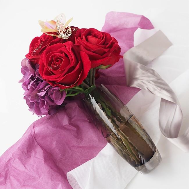 2年記念日のプレゼントにメリアルームのバラの花束.jpg