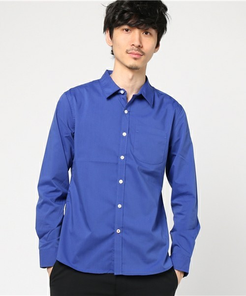 ROOPTOKYOの青シャツ