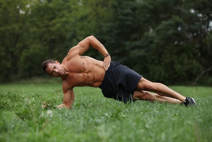 外腹斜筋を鍛えられるサイドヒップリフト