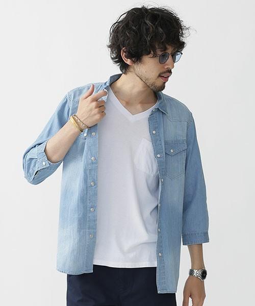nano・universeのデニムシャツ