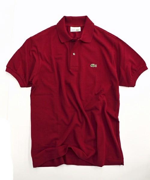 LACOSTEの赤ポロシャツ