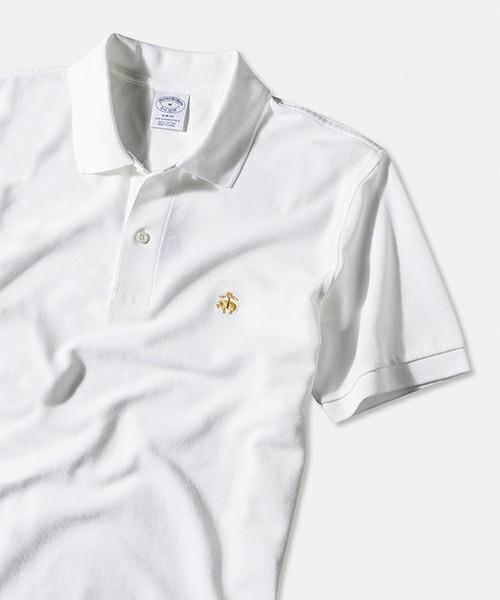 ブルックスブラザーズの白ポロシャツ