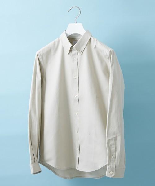 白のオックスシャツ