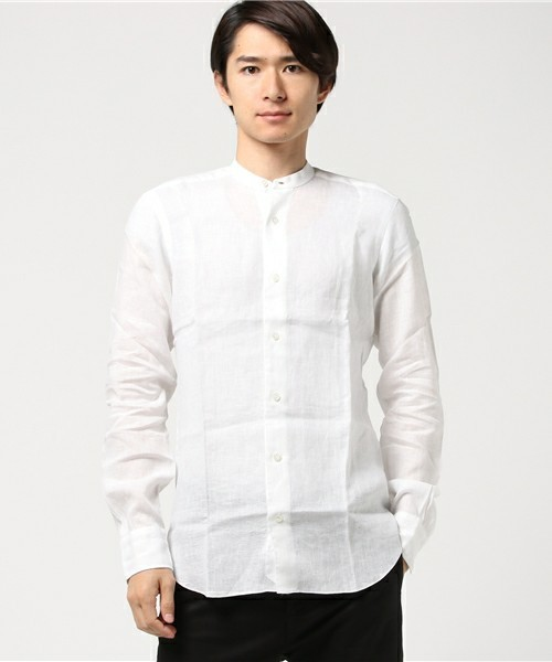 BARBAのリネンシャツ