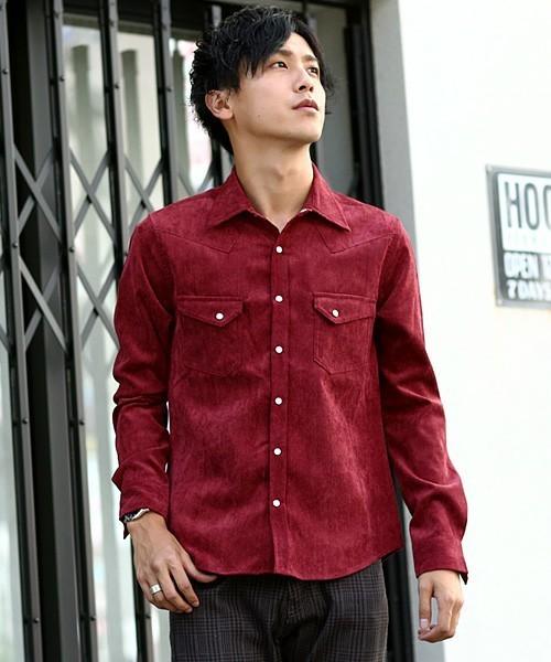 赤のウエスタンシャツ