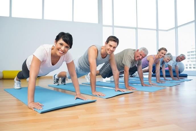 トランポリンダイエットの効果を上げる膝つき腕立て伏せ