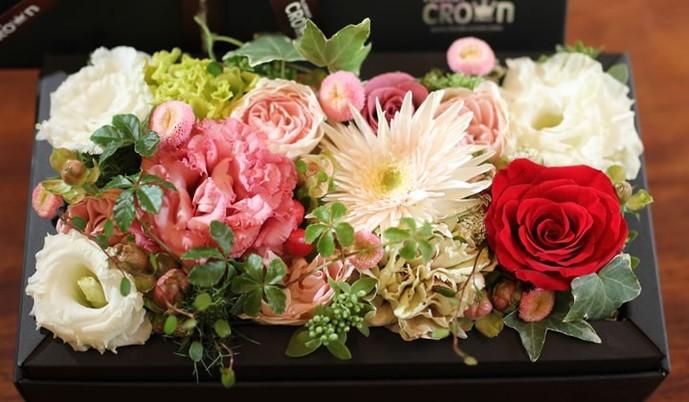 送別会に女性へのプレゼントにフラワーBOX.jpg