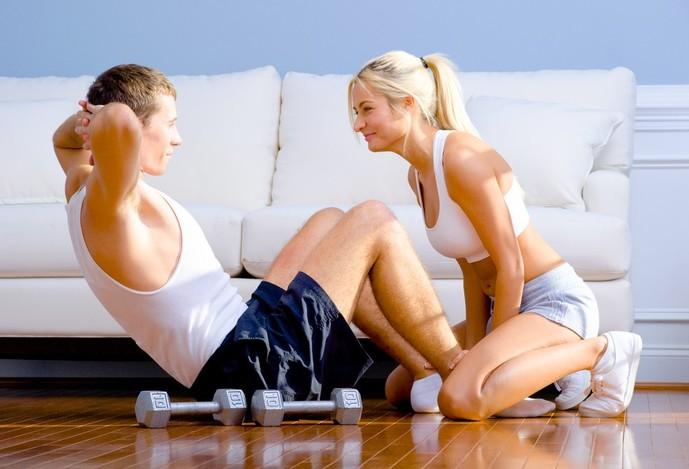お家デートで身体を動かす