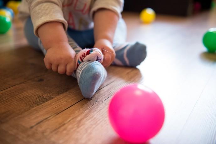 出産祝いの靴下のサイズ感