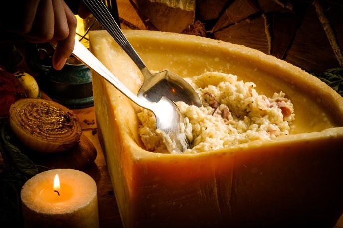 山小屋チーズの濃厚リゾット