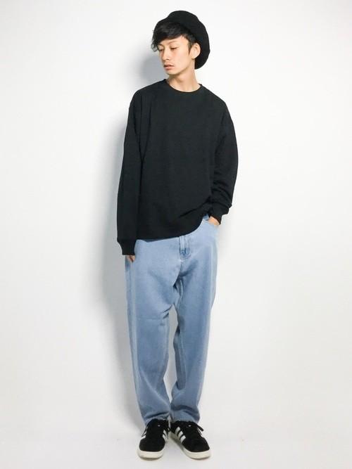 ビッグシルエットTシャツとワイドパンツの秋服コーデ