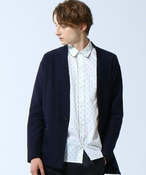 ジャガード編みのカーディガン