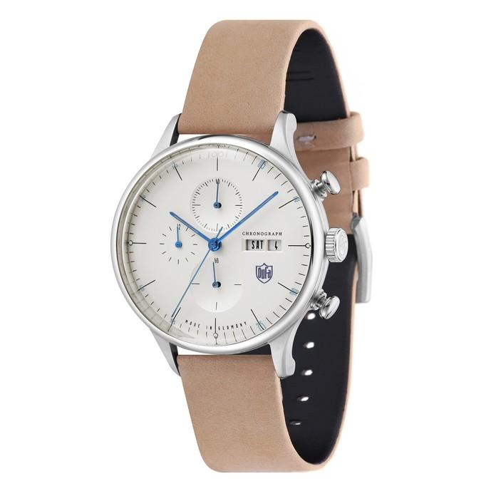 ベージュのシンプル時計