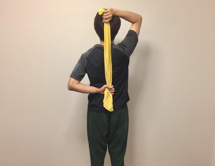 僧帽筋下部のストレッチ方法