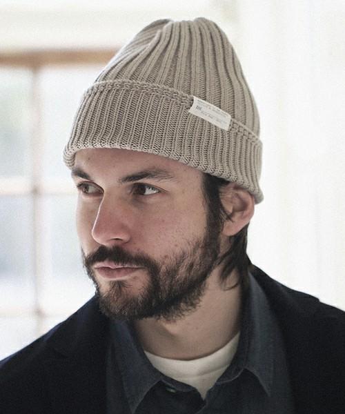リブ編み仕様のニット帽