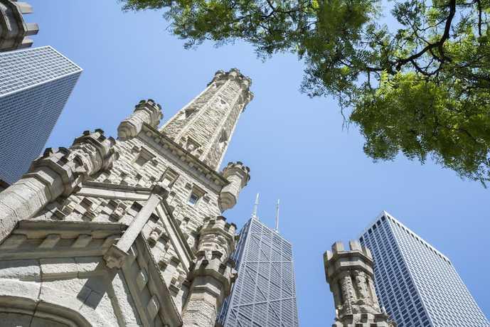 シカゴの観光スポットのウォーターパークタワー
