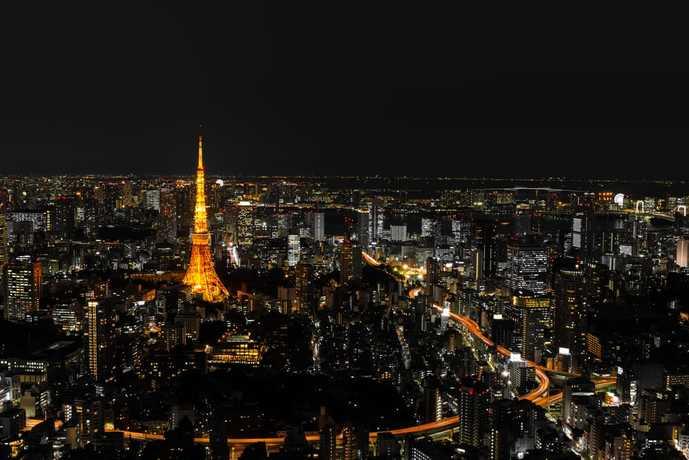 東京都港区六本木の綺麗な夜景