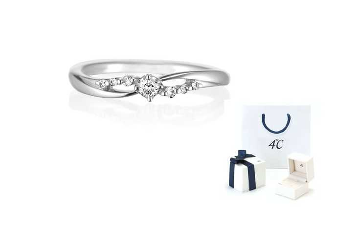 妻の誕生日プレゼントに4℃の指輪