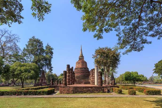 バンコクの人気観光地「ワット・チャナソンクラーム」