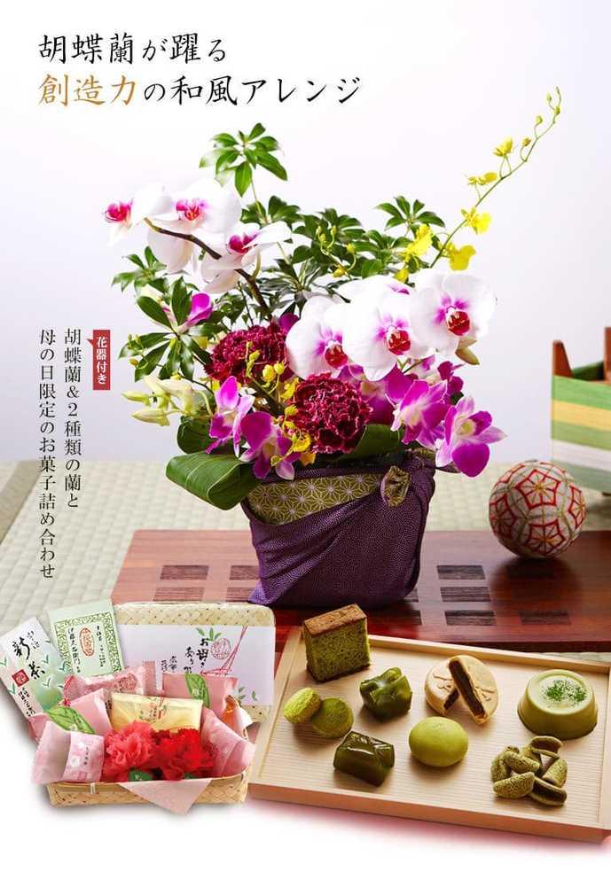 伊藤久右衛門のお菓子&胡蝶蘭セット