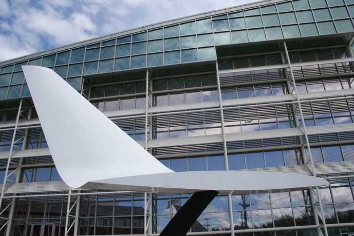 シアトルの航空博物館外観