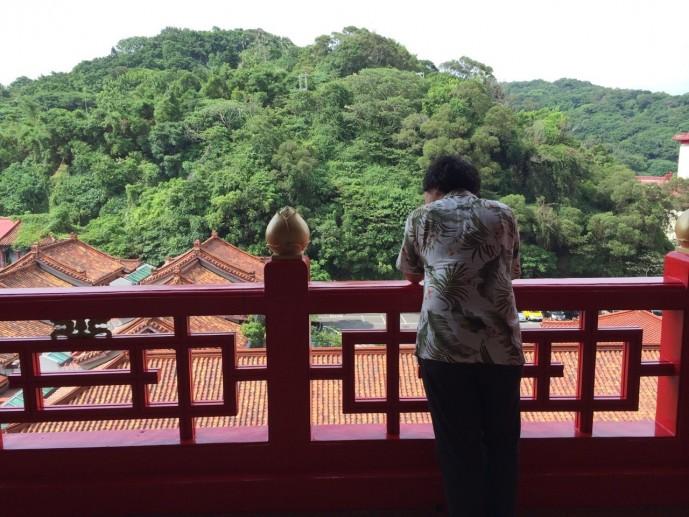 台湾 空 眺める