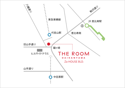 代官山コレクションアクセスマップ