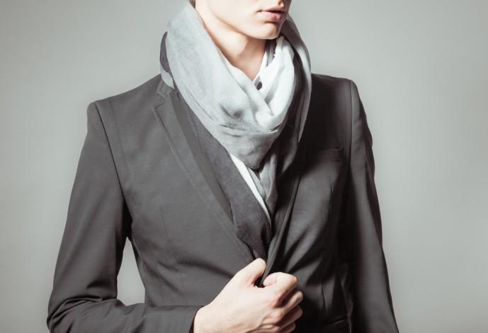 スーツ マフラー