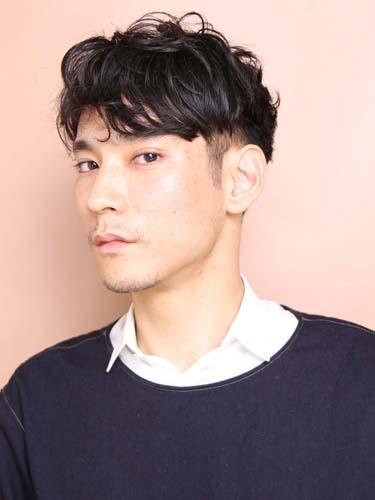 ピンパーマ ツーブロック メンズ髪型
